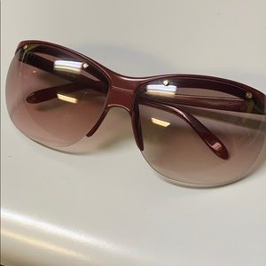 Vintage Cacharel Sunglass drilled red gradient